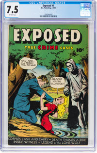 Exposed #1 (D.S. Publishing, 1948) CGC VF- 7.5 Off-white pages