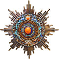 China, China: Qing Dynasty. Order of the Double Dragon First Class Third Grade Breast Star ND (1900-1912) AU,...