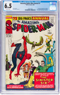 Silver Age (1956-1969):Superhero, The Amazing Spider-Man Annual #1 (Marvel, 1964) CGC FN+ 6.5Off-white pages....