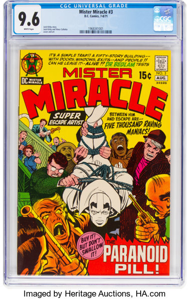Mister Miracle #3 (DC, 1971) CGC NM+ 9 6 White pages