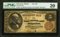 Princeton, IL - $5 1882 Brown Back Fr. 467 The First NB Ch. # 903 PMG Very Fine 20