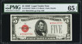 Small Size:Legal Tender Notes, Fr. 1531* $5 1928F Wide I Legal Tender Note. PMG Gem Uncirculated 65 EPQ.. ...