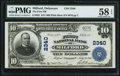 National Bank Notes:Delaware, Milford, DE - $10 1902 Plain Back Fr. 632 The First NB Ch. # 2340 PMG Choice About Unc 58 EPQ.. ...
