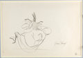 Animation Art:Production Drawing, A Witch's Tangled Hare Witch Hazel Layout Drawing Signed byJune Foray (Warner Brothers, 1959)....