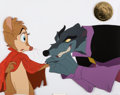 Animation Art:Production Cel, The Secret of NIMH Mrs. Brisby and Jenner Production CelSetup (Don Bluth, 1982)....