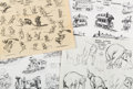 animation art:Model Sheet, Dumbo Studio Model Sheets Group of 14 (Walt Disney,1941).... (Total: 14 Items)