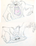 Animation Art:Production Drawing, Space Ace Monster Animation Drawings Sequence of 4 (Don Bluth, 1983).... (Total: 4 Original Art)