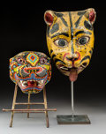 Other, Two Ethnographic Carved Wood and Beaded Animal Masks on Stands. 21-1/2 inches (54.6 cm) (taller). PROPERTY FROM THE ESTATE... (Total: 2 Items)