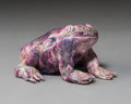 Sculpture, David James Gilhooly (American, 1943-2013). Frog, circa 1975. Glazed ceramic. 2-7/8 x 4-7/8 x 5-1/2 inches (7.3 x 12.4 x...