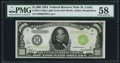 Small Size:Federal Reserve Notes, Fr. 2211-H $1,000 1934 Light Green Seal Federal Reserve Note. PMG Choice About Unc 58.. ...