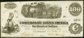 Confederate Notes:1862 Issues, T40 $100 1862 PF-3 Cr. 302. Choice About Uncirculated.. ...