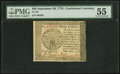 Continental Currency September 26, 1778 $40 PMG About Uncirculated 55