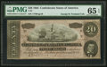 Confederate Notes:1864 Issues, T67 $20 1864 PF-13 Cr. 513. PMG Gem Uncirculated 65 EPQ & Embossing.. ...
