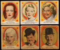 """Non-Sport Cards:Lots, 1938 Hamilton Gum """"Hollywood Picture Stars"""" & R68 Shelby Gum """"Hollywood Screen Stars"""" Collection (35)...."""