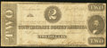 Confederate Notes:1863 Issues, T61 $2 1863 PF-6 Cr. 471. Very Good-Fine.. ...