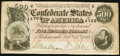 Confederate Notes:1864 Issues, T64 $500 1864 PF-2 Cr. 489. Very Fine.. ...