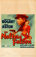 "Movie Posters:Film Noir, The Maltese Falcon (Warner Brothers, 1941). Window Card (14"" X 22"") From the Warner Media Archive.. ..."