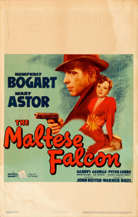"""The Maltese Falcon (Warner Brothers, 1941). Window Card (14"""" X 22"""") From the Warner Media Archive"""