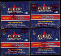 Baseball Cards:Sets, 1998-2000 Fleer Tradition Baseball Update Sets Lot of 18.... (Total: 18 items)