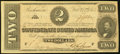 Confederate Notes:1864 Issues, T70 $2 1864 PF-5 Cr. 567. About Uncirculated.. ...