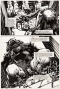 Original Comic Art:Panel Pages, Barry Windsor-Smith Giant Size Rune #1 Story Page 2 Original Art (Malibu, 1995)....