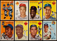 1954 Topps Baseball Collection (100) Including Hank Aaron Rookie!