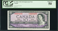 Canadian Currency, BC-40bA $10 1954 Replacement Note with *UT Prefix PCGS About New 50.. ...