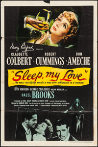 "Sleep My Love (United Artists, 1947). Folded, Fine+. One Sheet (27"" X 41""). Thriller"