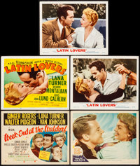 """Week-End at the Waldorf & Other Lot (MGM, 1945). Title Lobby Cards (2) & Lobby Cards (3) (11"""" X 14&..."""