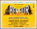 "Movie Posters:Academy Award Winners, Ben-Hur (MGM, 1960). Fine- on Cardstock. Half Sheet (22"" X 28"")Style A, Academy Awards Style. Joseph Smith Artwork. Academy..."