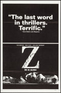 Movie Posters:Foreign, Z (Cinema 5, 1969). Folded, Very Fine+. One Sheet ...