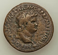 Ancients:Roman Imperial, Ancients: Nero (AD 54-68). AE sestertius (35mm, 24.17 gm,7h).VF....