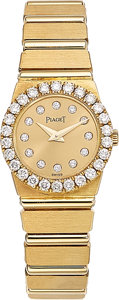 Estate Jewelry:Watches, Piaget Lady's Diamond, Gold Polo Watch . ...