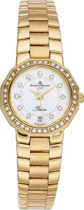 Estate Jewelry:Watches, Baume & Mercier Lady's Diamond, Gold Riviera Watch. ...