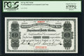 Canadian Currency, St. John's, NF- Newfoundland Government Cash Note 80¢ 1907 Ch. #NF-4gs Specimen PCGS Superb Gem New 67PPQ.. ...