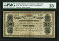 Canadian Currency, St. John's, NF- Newfoundland Government Cash Note 50¢ 1902 Ch. # NF-3b PMG Choice Fine 15.. ...
