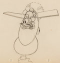 Animation Art:Production Drawing, Plane Crazy Mickey Mouse and Minnie Mouse Animation Drawing(Walt Disney, 1928-29)....