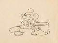 Animation Art:Production Drawing, Steamboat Willie Mickey Mouse Animation Drawing Original Art(Walt Disney, 1928)....