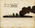 Animation Art:Production Cel, The Sinking of the Lusitania Signed Production Cel (Winsor McCay, 1918)....