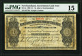 Canadian Currency, St. John's, NF- Newfoundland Government Cash Note $1 1905 Ch. # NF-5e PMG Choice Fine 15.. ...