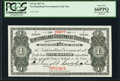 Canadian Currency, St. John's, NF- Newfoundland Government Cash Note $1 1907 Ch #NF-5gs Specimen PCGS Gem New 66PPQ.. ...