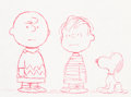Animation Art:Production Cel, Peanuts - Ford Falcon TV Commercial Charlie Brown with Linusand Snoopy Production Cel Setup and Animation Drawing (Pl...(Total: 2 Items)