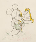 Animation Art:Production Drawing, Fantasia Mickey Mouse as the Sorcerer's Apprentice AnimationDrawing Original Art (Walt Disney, 1940)....