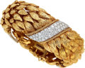 Estate Jewelry:Bracelets, Diamond, Platinum, Gold Bracelet, David Webb . ...