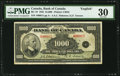 Canadian Currency, BC-19 $1000 1935 PMG Very Fine 30.. ...