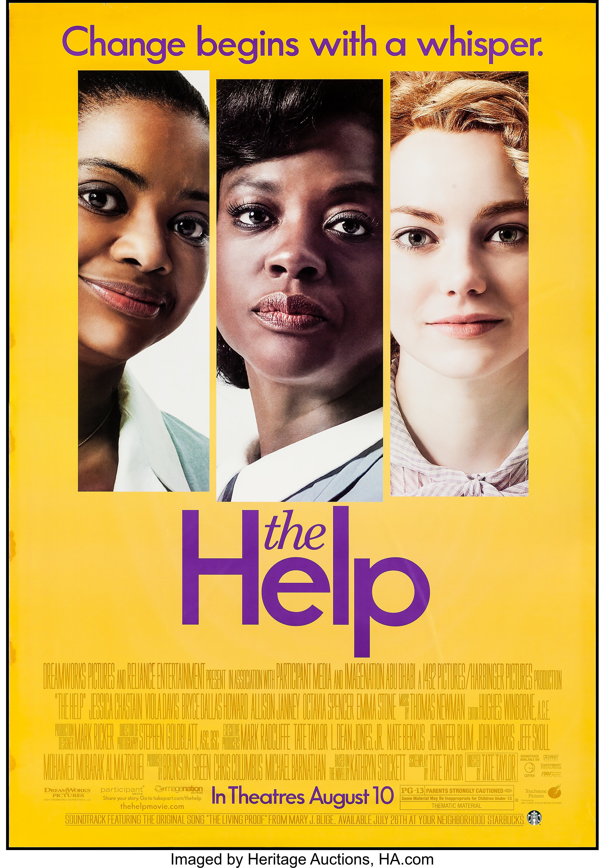 The Help Touchstone 2011 Subway 47 5 X 68 25 Ds Drama Lot 54182 Heritage Auctions