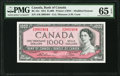 Canadian Currency, BC-44e $1000 1954 PMG Gem Uncirculated 65 EPQ.. ...