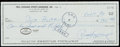 Autographs:Checks, 1990 Paul Hornung & Dick Butkus Dual-Signed Check....