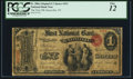 Knoxville, TN - $1 Original Fr. 380a The First NB Ch. # 391 PCGS Fine 12