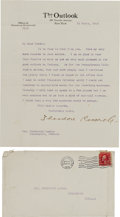 Miscellaneous Collectibles:General, 1912 President Theodore Roosevelt Signed Letter.. ...